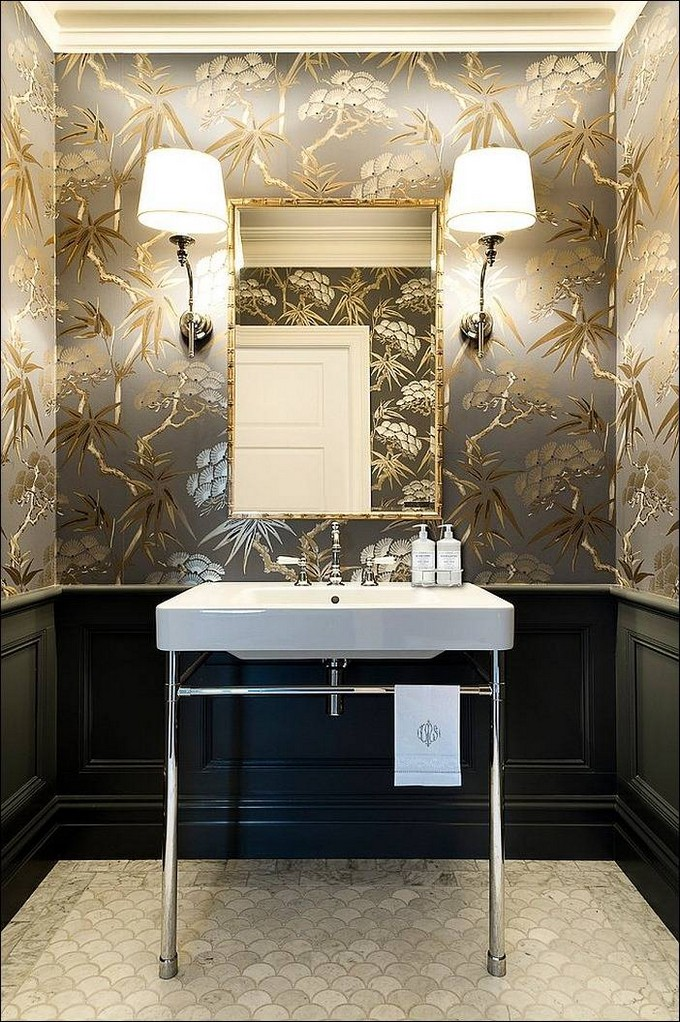 Gorgeous Wallpaper Ideas for your Modern Bathroom modern bathroom wallpaper ideas maison valentina luxury bathrooms3 modern  bathroom Gorgeous Wallpaper Ideas for your Modern