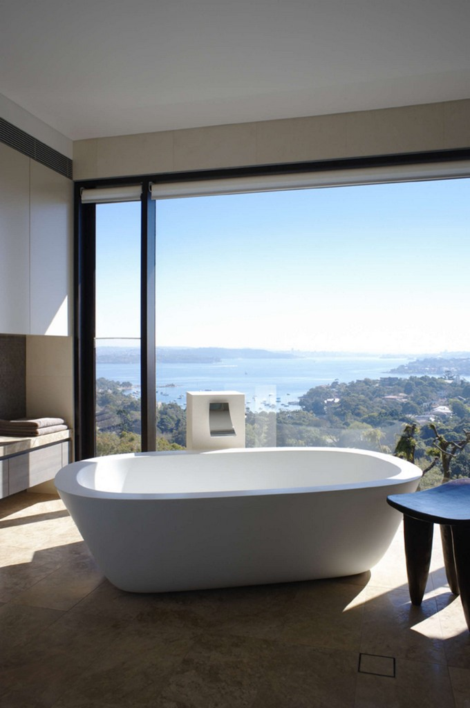 Make A Splash Into Your Bathroom With Floor To Ceiling Windows