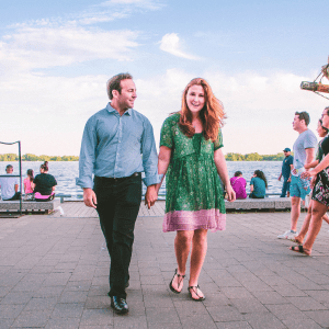 Maison ZOLTS Toronto Harbourfront proposal photo session with CN Tower to the back