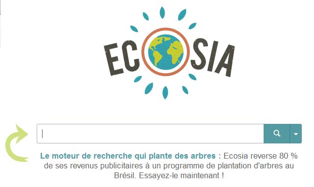 Ecosia protège l'environnement