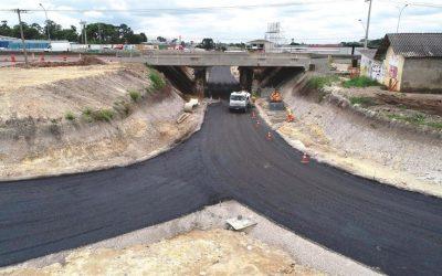 Liberação de tráfego na nova trincheira no trevo do Atuba acontece na próxima segunda-feira