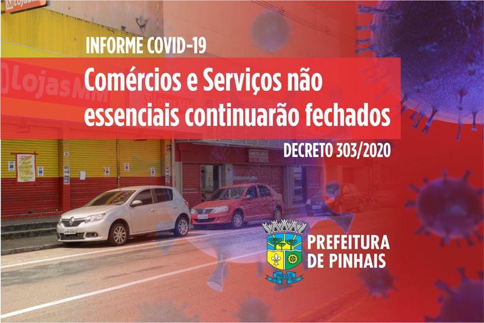 Prefeitura prorroga decreto de fechamento do comércio e comunica aos empresários
