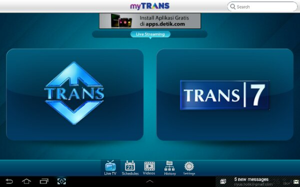 Nonton TV di Android Tablet (3/4)