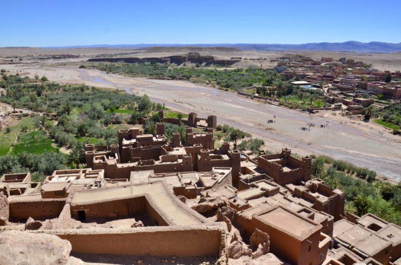 Vista do alto do kasbah de Ait Benhaddou