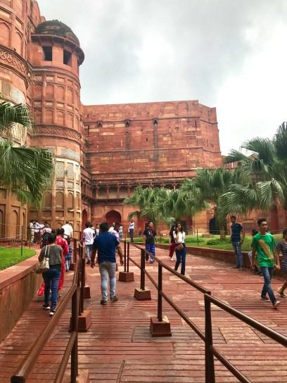 Entrada do Forte de Agra.