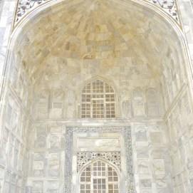 Detalhes do Taj Mahal.