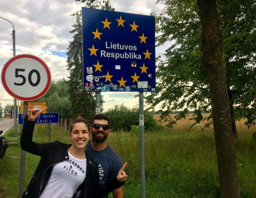 Fronteira entre Letônia e Lituânia