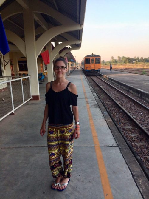 Estação de trem Thanaleng Station em Vientiane no Laos