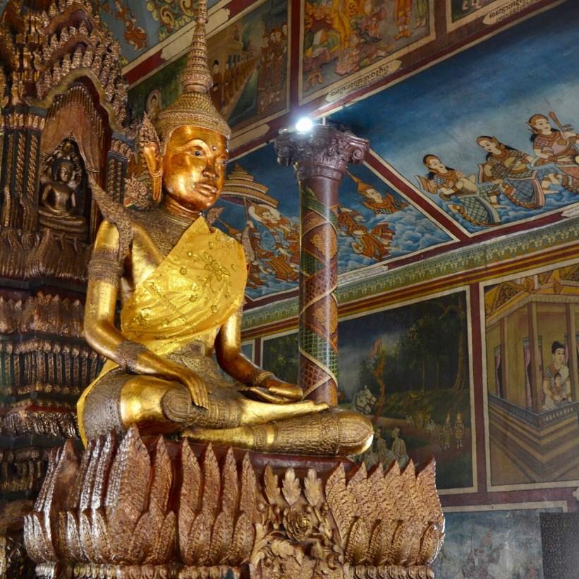 Templo Wat Phnom, em Phnom Penh