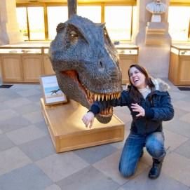 Dinossauro comendo meu braço, palhaçada