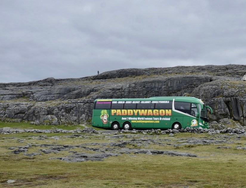 Paddywagon, empresa de passeios e turismo na Irlanda.