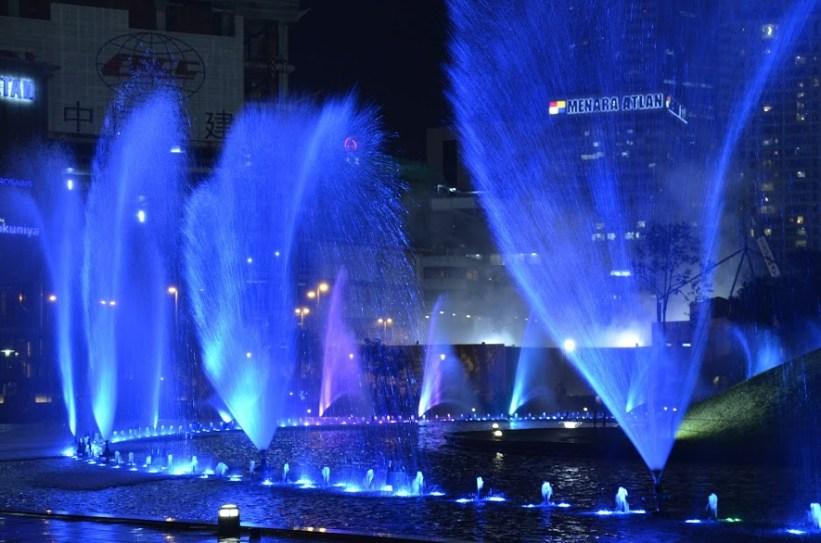 Show das fontes de água em Kuala Lumpur