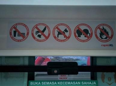 Metrô em KL, na Malásia