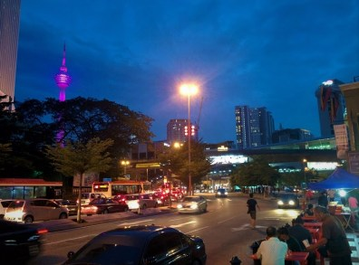 Vista da cidade para a Torre KL