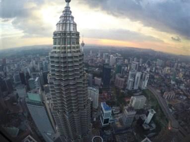 Kuala Lumpur vista do deck de observação das Torres Petronas