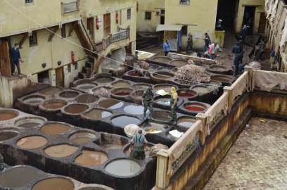 Chouara Tanneries, in the city of Fez