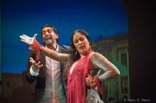 Sonia e Ismael durante su actuación en el teatro 14 Y en el show Por los Caminos.
