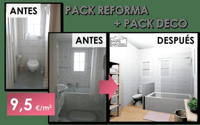 Pack Reforma. Cómo convertir 2 baños poco prácticos en 1 funcional y agradable