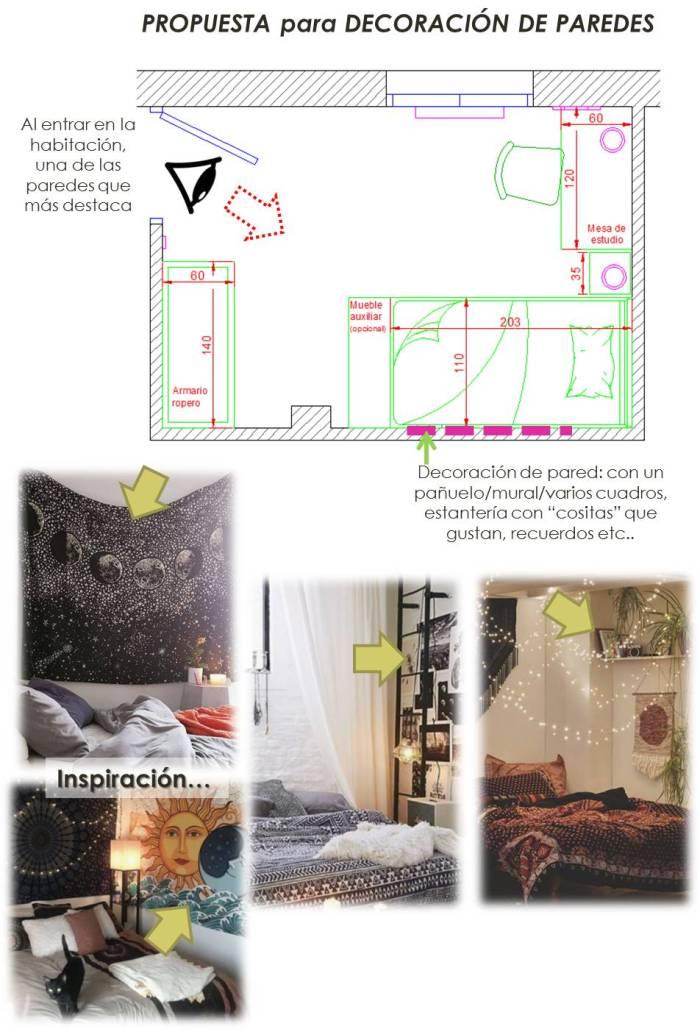 habitación juvenil de 10 m2 11