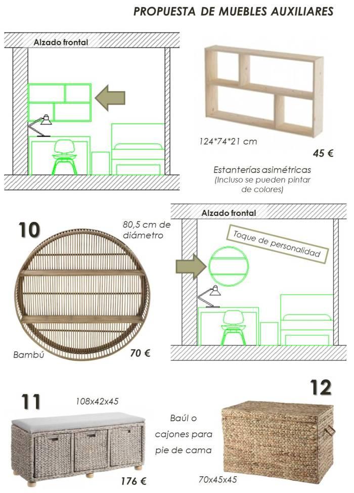 habitación juvenil de 10 m2 7