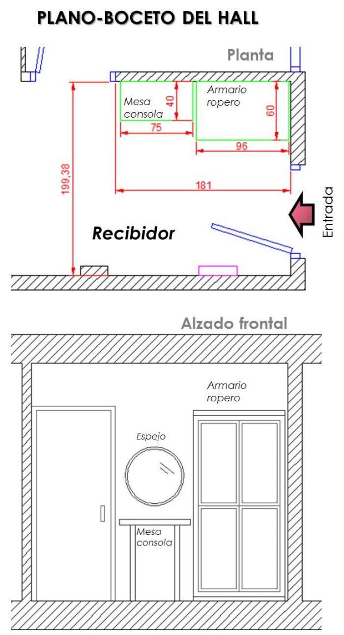 cómo decorar un recibidor 11