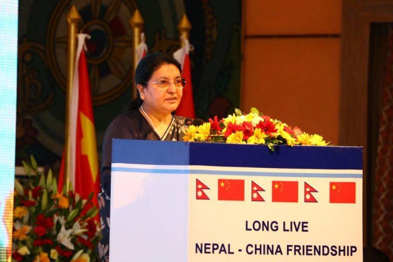 सीको नेपाल भ्रमणका क्रममा राष्ट्रपति भण्डारीले यसो भन्नुभयो (सम्वोधनको पूर्णपाठ)