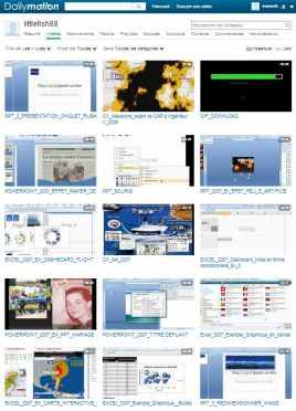 Exemple imprim écran chaine Dailymotion