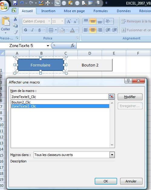 Excel VBA créer un bouton