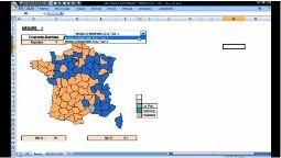 EXCEL :Créer une carte interactive sous Excel, Et si la nouvelle carte de France des régions ressemblait à ça ?