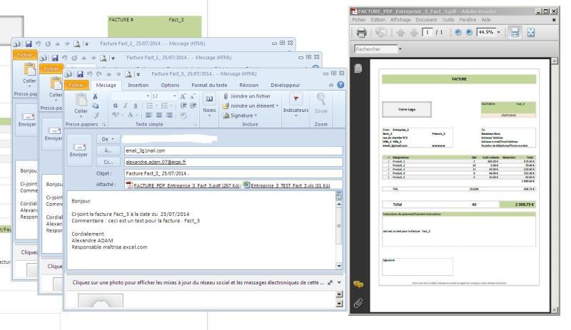 EXCEL OUTLOOK - Envoi mail:Macro excel envoi email avec pièce jointe