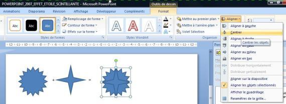 Comment réaliser une étoile scintillante sur Powerpoint