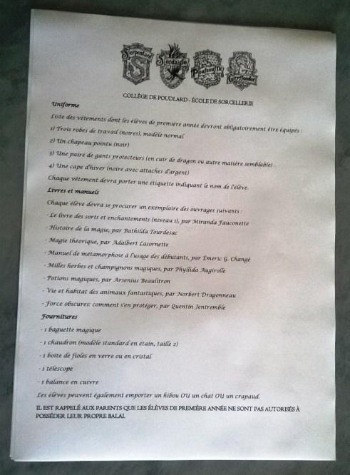WORD 2007 : Comment faire une lettre d'admission Poudlard en moins de 15 min.