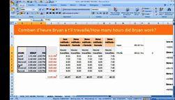 Excel 2007 : Comment calculer les heures de travail sur excel 2007 en moins de 3 min.