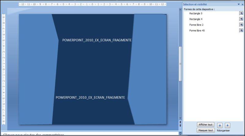 POWERPOINT_2010_EX_ECRAN_FRAGMENTE.Powerpoint 2007 : Comment faire un écran fragmenté sur Powerpoint en moins de 4 min.