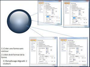 Powerpoint 2007 : Comment faire une boule 3D sur Powerpoint en moins de 3 min. POWERPOINT_2007_EX_EFFET_BOULE_EN_COULEUR