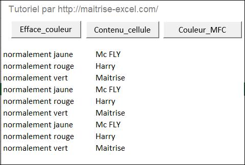 Excel 2010 : Comment faire une boucle sur contenu sans MFC via Excel VBA en moins de 5 min.