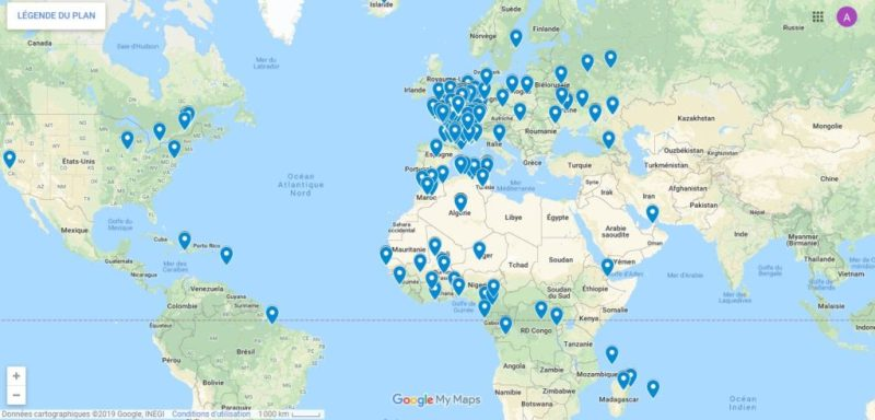 Comment créer une carte sur Google Map spéciale merci à mes abonnées avec Excel 2016 en moins de 7 min.