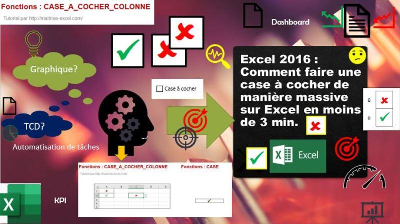 Excel 2016 : Comment faire une case à cocher de manière massive sur Excel en moins de 3 min.