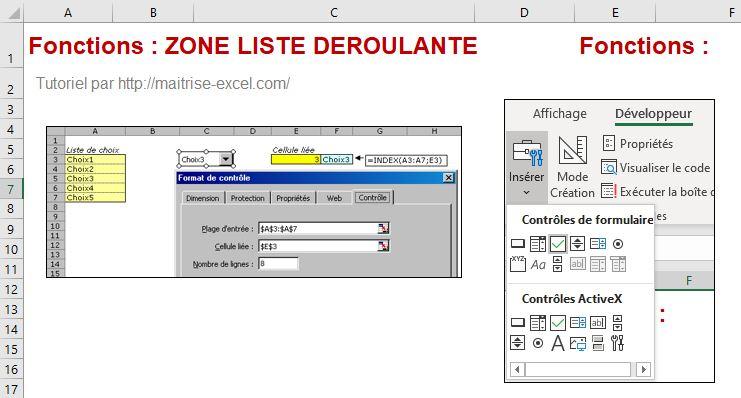 Excel 2016 : Comment créer une zone liste déroulante sur Excel en moins de 3 min.