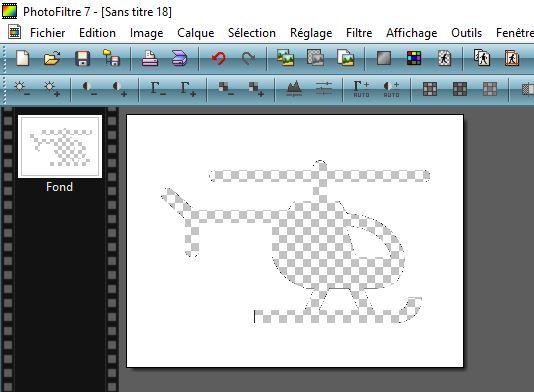 Comment faire un graphique design sur Excel : Photofiltre 7 Transparence de la forme