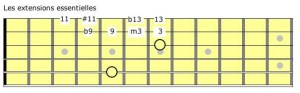 Les extensions essentielles à la guitare (corde A grave)