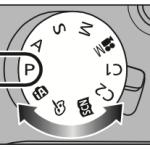 Mollette des modes PASM sur un Panasonic (Lumix) FZ1000