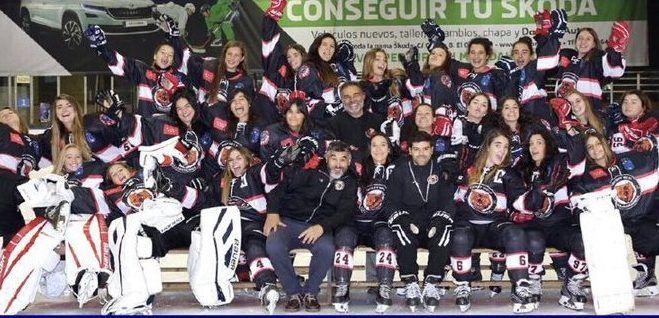 Hockey Hielo: Majadahonda femenino pentacampeón de liga y los masculinos ganan al Barcelona