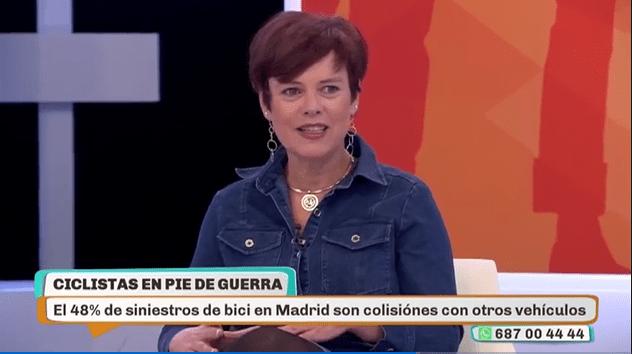 """Paz Arraíza (Club Ciclista Majadahonda), protagonista """"en boca de todos"""" de Telemadrid"""