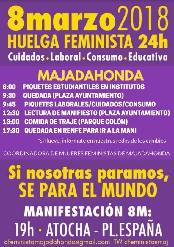 """Coordinadora de Mujeres Feministas prepara """"piquetes estudiantiles y laborales"""" en Majadahonda(8-M)"""