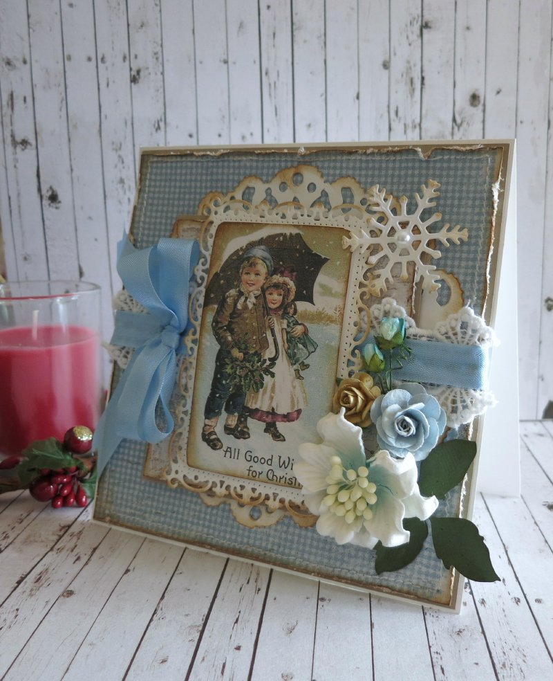 wishes for Christmas 3 - Cathy - Vintage Frost Basics