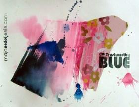 TRUSTWORTHY BLUE, 30 x 40 cm