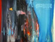HOOLOOVOO BLUE, 60 x 80 cm