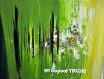 LOGICAL YELLOW, 60 x 80 cm