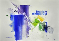 FEARLESS INDIGO, 70 x 100 cm
